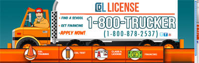 Get your commercial driver license (CDL License) with one of our qualified truck driving schools